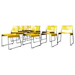 Rodney Kinsman Space Age Yellow Omstak Chair for Bieffeplast, 1971, Set of 10