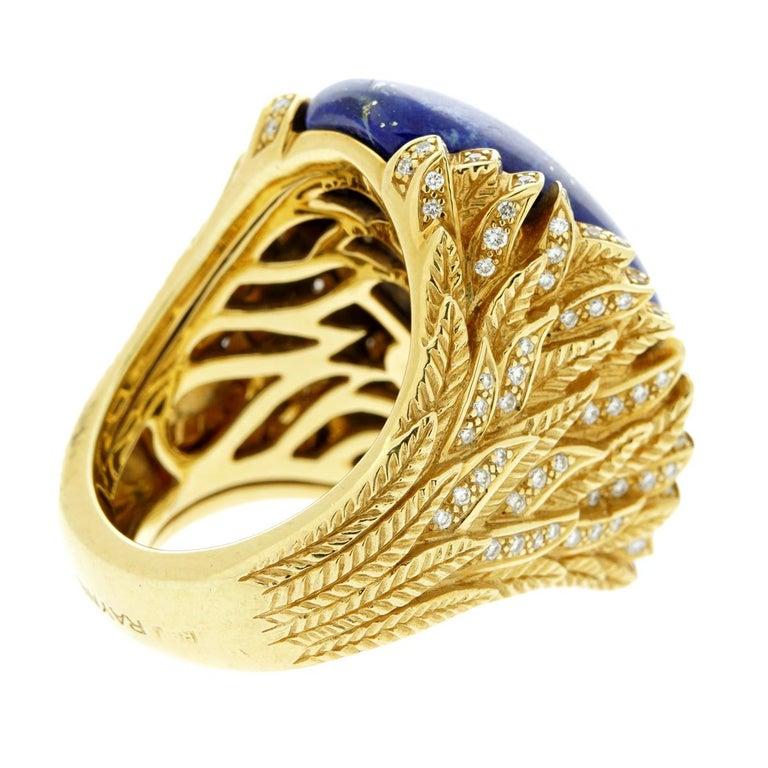 Rodney Rayner Award Winning Designer  Lapis Lazuli Diamond Gold Ring For Sale 1