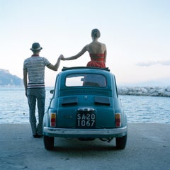 Saori and Mossimo Holding Hands- framed color photograph by Rodney Smith