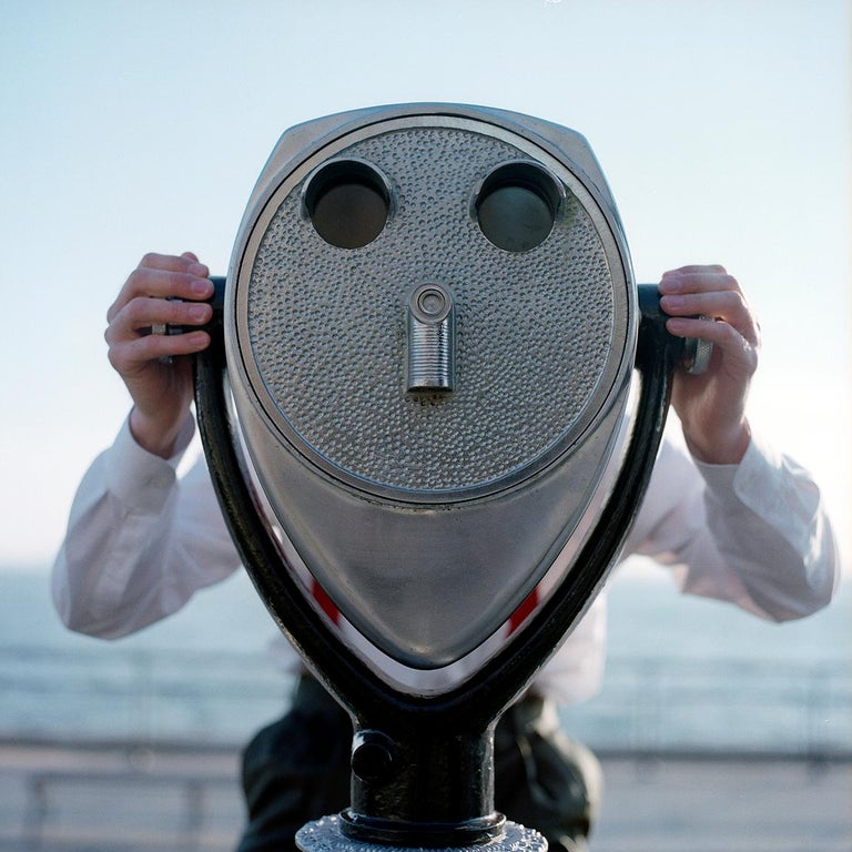 Rodney Smith Color Photograph - Viewfinder Face, New York, NY