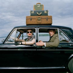 Viktoria and Rainer in Car- Color photograph estate print by Rodney Smith Framed