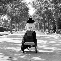 Woman with Dog in Basket, Beverly Hills, CA