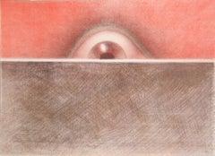 Rising Eye, Lithograph by Rodolfo Abularach