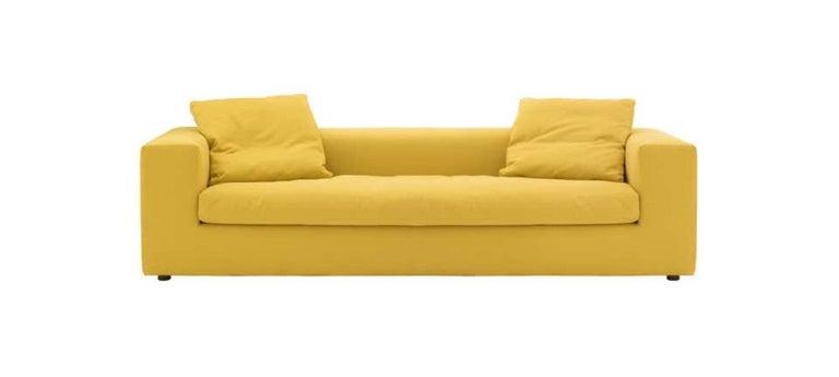 Modern Rodolfo Dordoni Cuba 25 Sofa-Bed in Black Leather for Cappellini For Sale