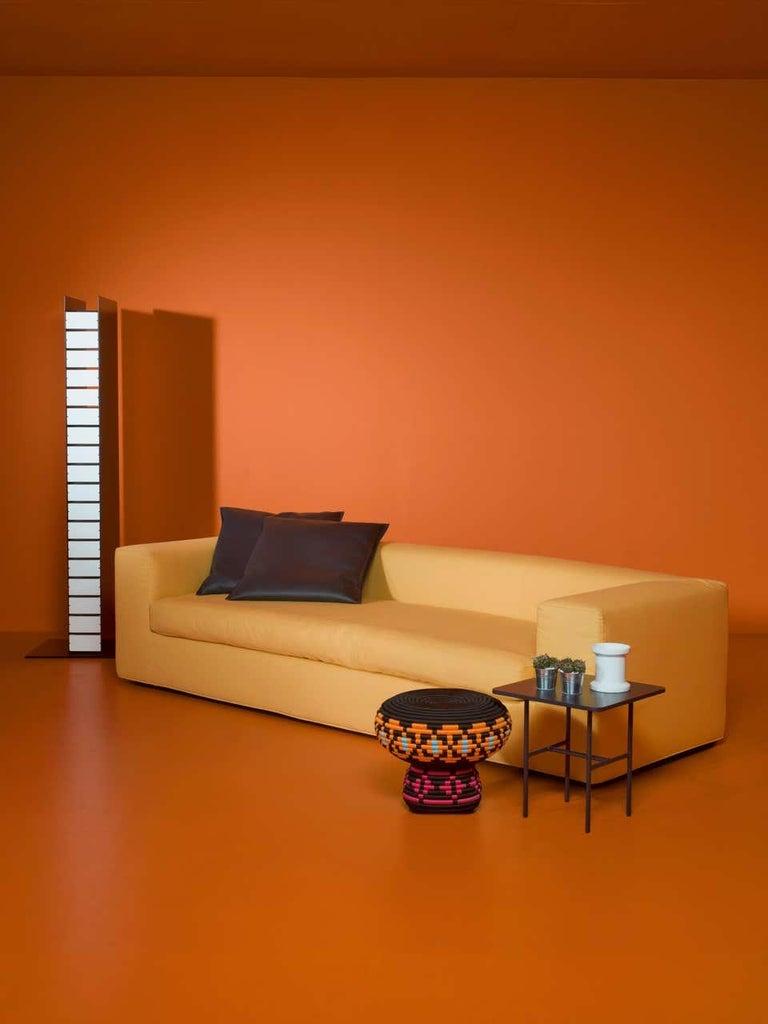 Italian Rodolfo Dordoni Cuba 25 Sofa-Bed in Black Leather for Cappellini For Sale