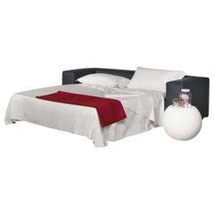 Rodolfo Dordoni Cuba 25 Sofa-Bed in Black Leather for Cappellini