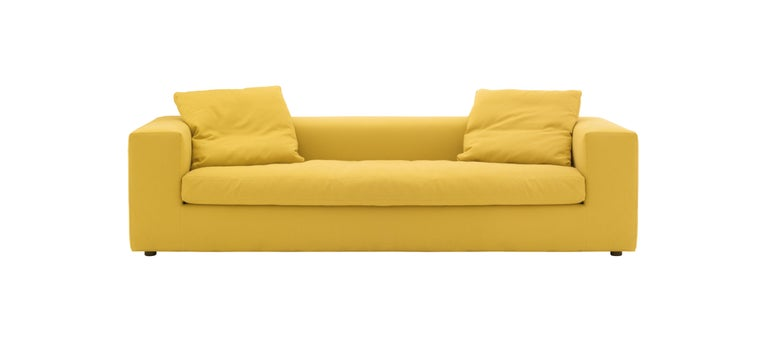 Modern Rodolfo Dordoni Cuba 25 Two-Seat Sofa-Bed in Fabric or Leather for Cappellini For Sale