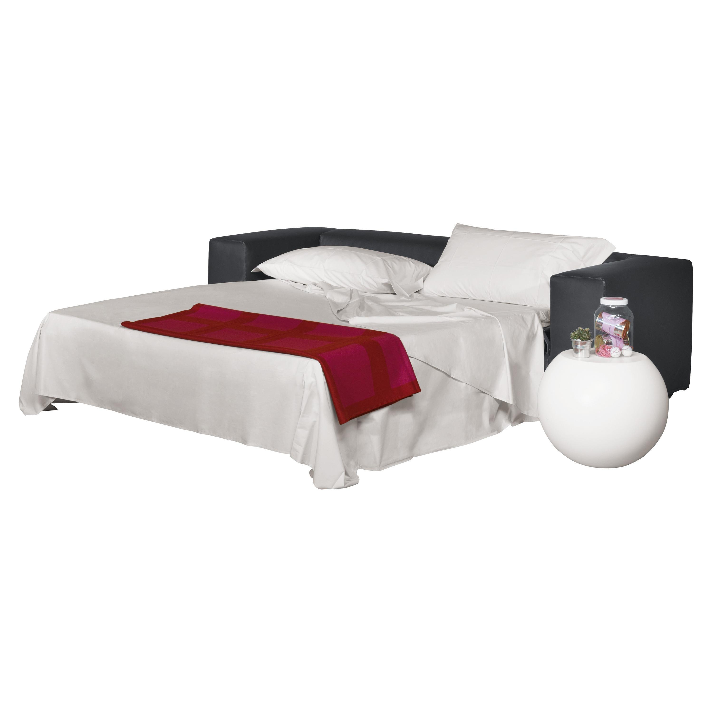 Rodolfo Dordoni Cuba 25 Two-Seat Sofa-Bed in Fabric or Leather for Cappellini