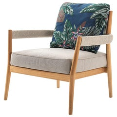 Rodolfo Dordoni ''Dine Out Armchair' Teak, Rope and Water-Repellent Fabric