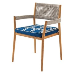 Rodolfo Dordoni ''Dine Out' Outside Chair, Teak, Rope and Fabric