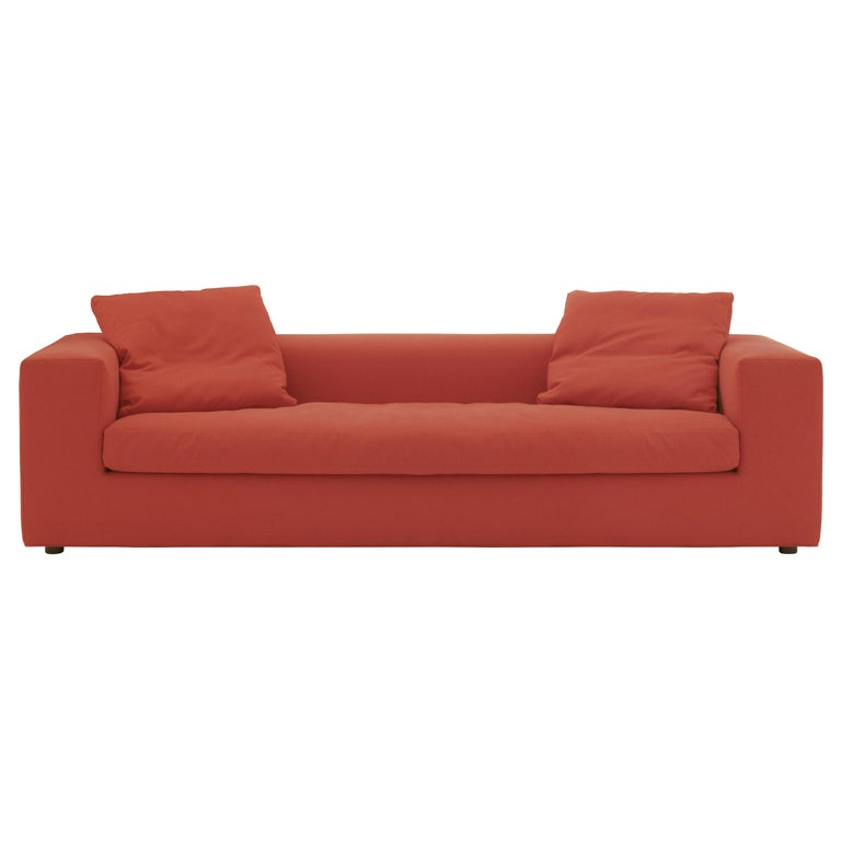 For Sale: Red (Hero - 809) Rodolfo Dordoni Large Cuba 25 Sofa Upholstered in Fabric or Leather, Cappellini