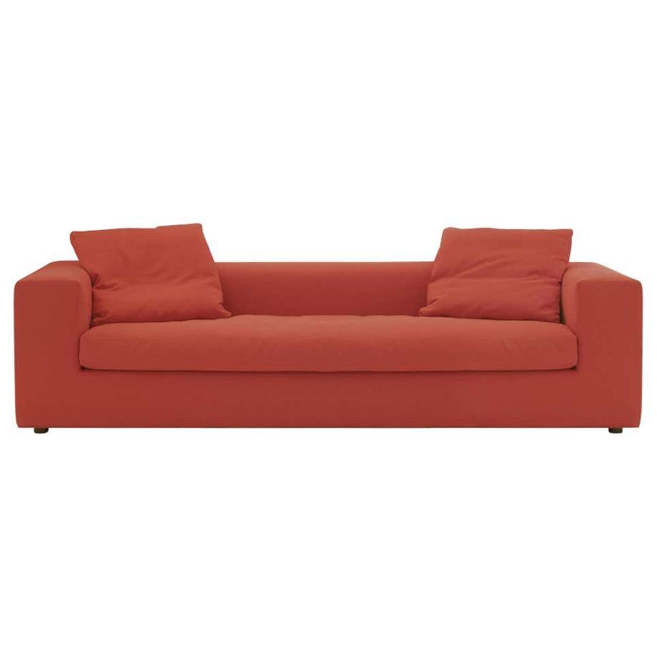 Rodolfo Dordoni Large Cuba 25 Sofa Upholstered in Red Hero for Cappellini