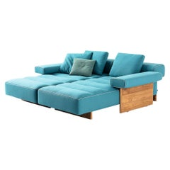 Rodolfo Dordoni ''Sail Out' Outdoor Sofa, Metal, Teak and Water-repellent Fabric