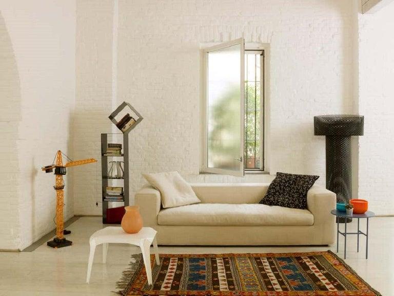 Modern Rodolfo Dordoni Small Cuba 25 Sofa Upholstered in Red Hero for Cappellini For Sale