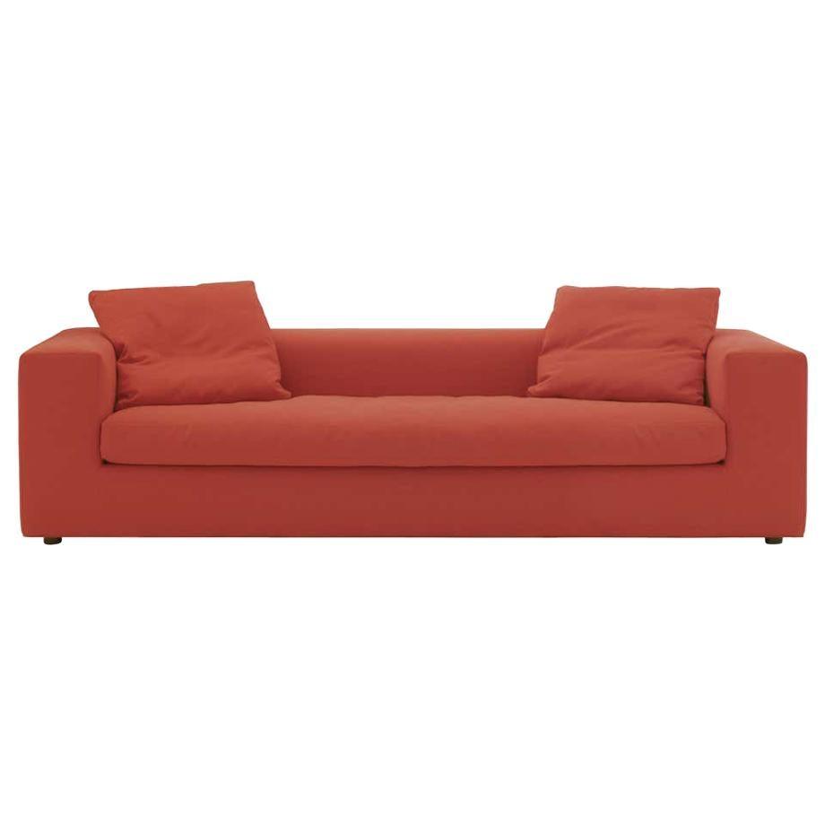 Rodolfo Dordoni Small Cuba 25 Sofa Upholstered in Red Hero for Cappellini
