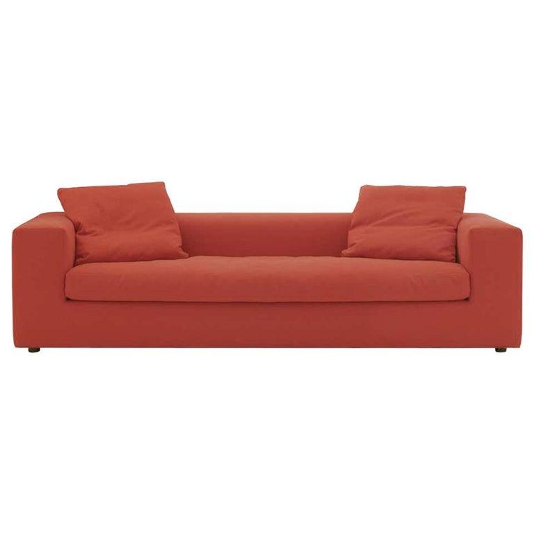 Rodolfo Dordoni Small Cuba 25 Sofa Upholstered in Red Hero for Cappellini For Sale