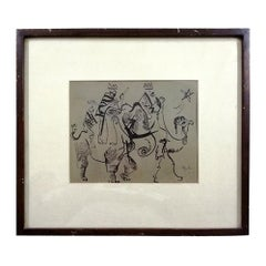 Rodolfo Nieto, Three Wise Men, Mexican Ink on Paper Drawing