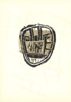 1958 Rodolphe Raoul Ubac 'DLM No.112 Page 8' Cubism Black & White Lithograph