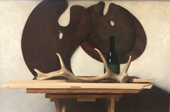 Still Life with Palettes and Horn