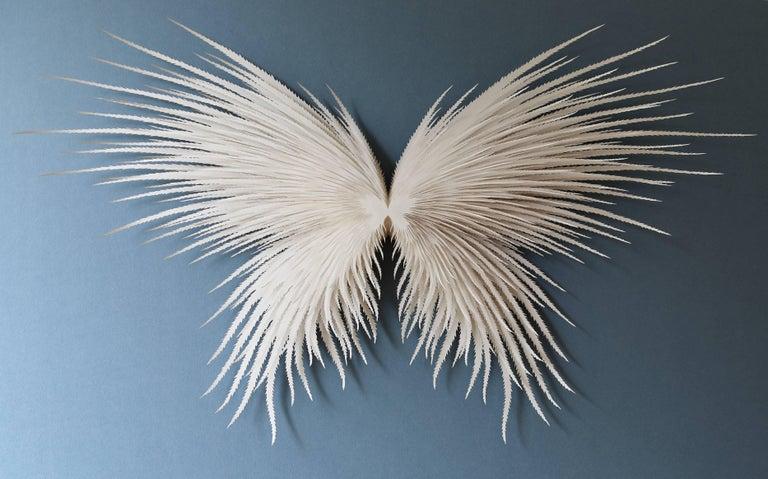 Rogan Brown Abstract Sculpture Angel Wings Wall Hand Cut