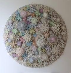 """""""Magic Circle Color"""", Wall Sculpture, Hand Cut, Laser Cut Paper"""