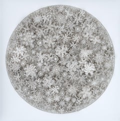 """Magic Circle"" Rogan Brown, Paper Wall Relief Sculpture, Sculptural Wall Piece"