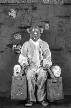 Bagged – Roger Ballen, Roger The Rat, Black and White, Animal, Photography, Art
