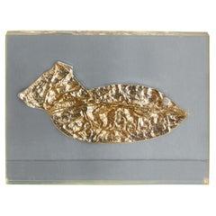 "Roger Bezombes ""Apesanteur fish"" Sculpture / Paper Weight, France, 1970s"