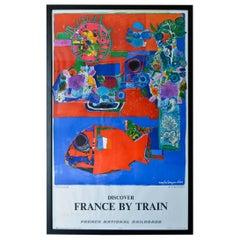 Roger Bezombes Côte D'Azur Original Travel Poster, 1968