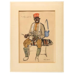 Roger Bezombes Print of a Senegalese French Foreign Legion Soldier