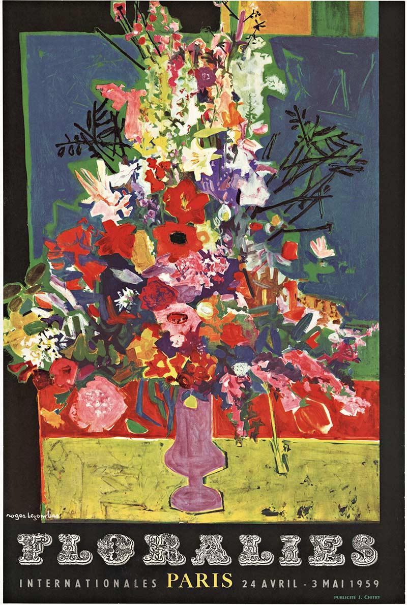 Florailes Internationales  Paris Original Vintage Poster