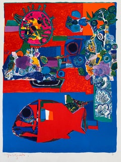 French Artist Modern Lithograph Roger Bezombes