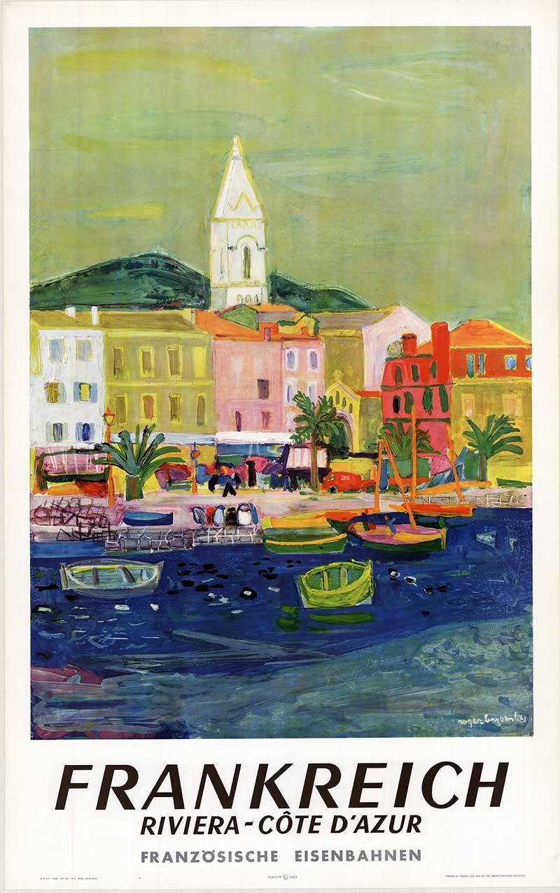 Riviera - Cote d'Azur Frankreich original vintage travel poster