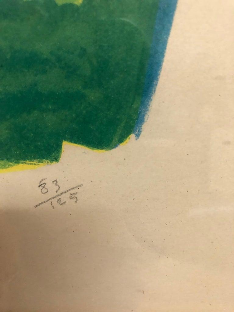 Roger Bezombes  La Cafetiere Bleue Lithograph For Sale 2