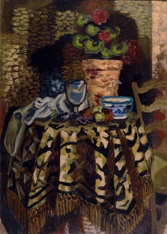 "Roger Bissière ""Still Life"" 1926, Oil on Wood Panel, Modern Art"