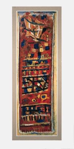1960 Roger Bissiere 'Rouge, Noir et Orange' Multicolor,Red Offset Lithograph