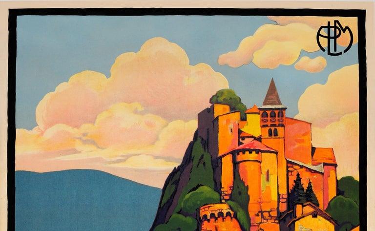 Original Vintage PLM Railway Travel Poster By Broders - Cornillon Saint Etienne - Print by Roger Broders
