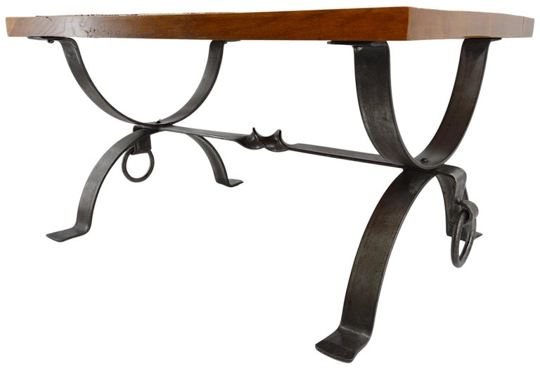 Roger Capron and Jean Derval Small Coffee Table, 1960s In Good Condition For Sale In Saint-Amans-des-Cots, FR