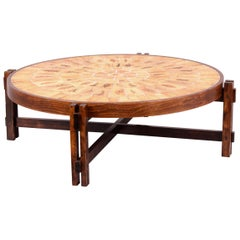 Roger Capron Ceramic and Wood Coffee Table