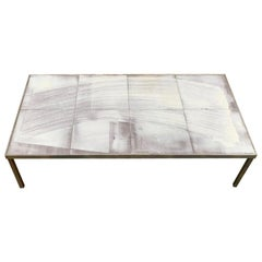 Roger Capron Ceramic Coffee Table, France, 1960s