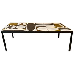 Roger Capron Ceramic Coffee Table, France, Early 60's