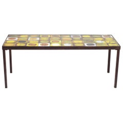 Roger Capron Ceramic Planete Coffee Table, France, circa 1960