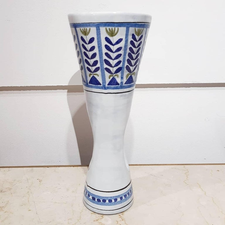 French Roger Capron Ceramic Vase Vallauris, France 1950 For Sale