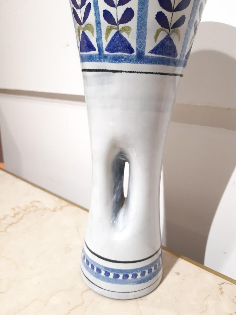 Roger Capron Ceramic Vase Vallauris, France 1950 In Good Condition For Sale In Toulouse, Midi-Pyrénées