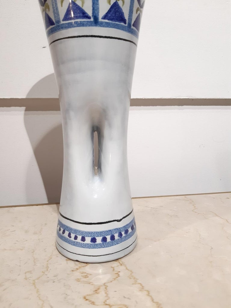 Mid-20th Century Roger Capron Ceramic Vase Vallauris, France 1950 For Sale