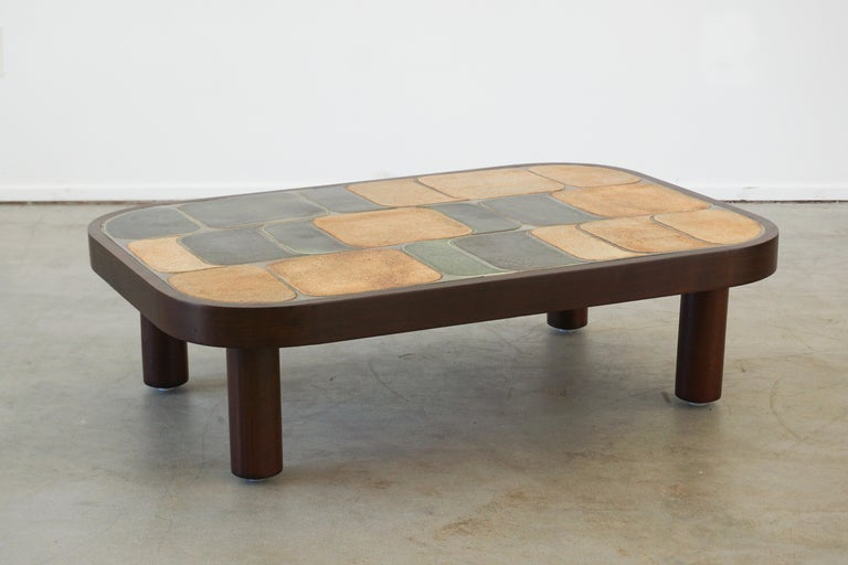 French Roger Capron Coffee Table For Sale