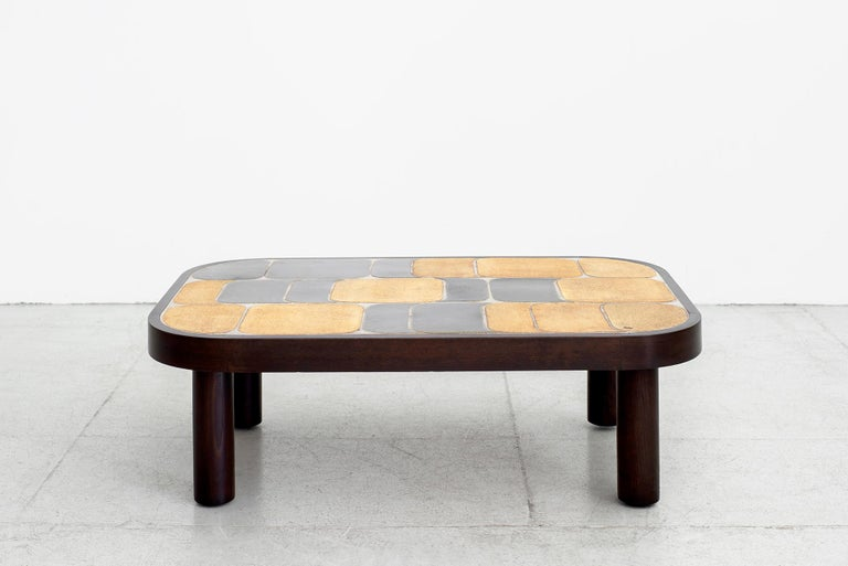 Roger Capron Coffee Table In Good Condition For Sale In Los Angeles, CA