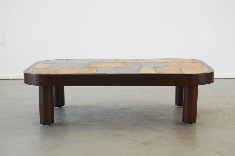 Mid-20th Century Roger Capron Coffee Table For Sale