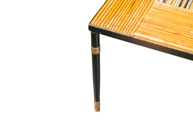 Mid-Century Modern Coffee Table, France, circa 1960 featuring Roger Capron Ceramics For Sale