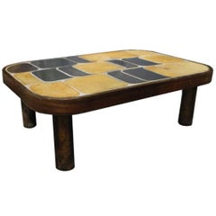 "Roger Capron Coffee Table with ""Sou-Chong"" Tiles"